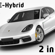 Porsche Panamera Hybrid and 4S 3D Model