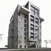 Residential Condominium Buildings 3D Model