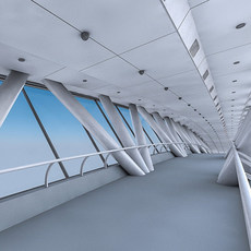 Kingdom Centre Skybridge Interior 3D Model