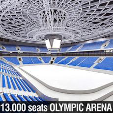 Winter Olympic Stadium 13000 seats 3D Model