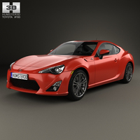 Toyota GT 86 with HQ interior 2013 3D Model