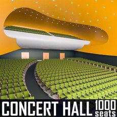 Modern Concert Hall 1000 seats 3D Model