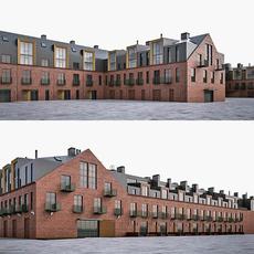Loft Building Exterior 3D Model
