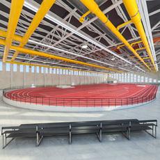 Gym Athletics Indoor Interior 3D Model
