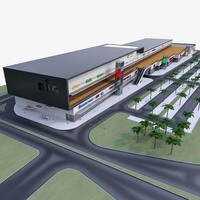 Shopping Mall 005 3D Model
