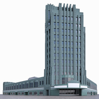 Wiltern Theatre - Pellissier Building 3D Model