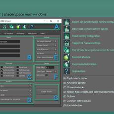 shaderSpace create shader toolset for Maya 1.0.2 (maya script)