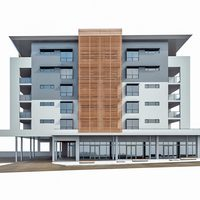 Modern Apartment Building 03 3D Model