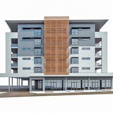 Modern Apartment Building 03 3D Model