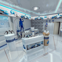 Mobile Phones Shop Interior Scene 3D Model