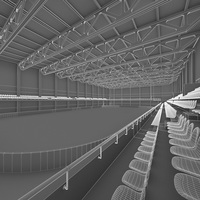 Ice Hockey Arena Interior 3D Model