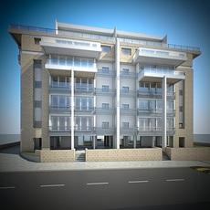 Residential Building 001 3D Model