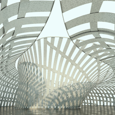 Street structure - public Pavilion with insides 3D Model