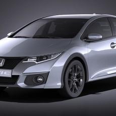 Honda Civic Sport 2016 VRAY 3D Model
