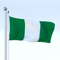 Animated Nigeria Flag 3D Model