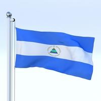Animated Nicaragua Flag 3D Model