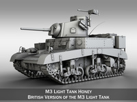 "M3 Light Tank Mark 1 ""Honey"" 3D Model"