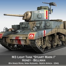 M3 Light Tank Honey - Bellman 3D Model
