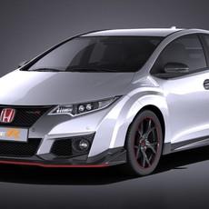 Honda Civic Type R 2016 VRAY 3D Model