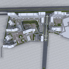 Residential Urban Area 3D Model