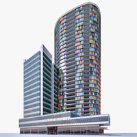 Residential Tower 02 3D Model