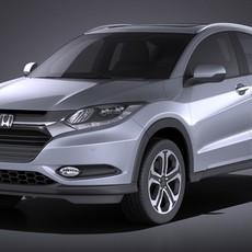 Honda HR-V EU 2016 VRAY 3D Model