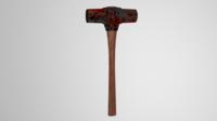 Rusted Sledgehammer 3D Model