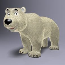 Cartoon Polar bear Rigged 3D Model