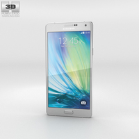Samsung Galaxy A7 Platinum Silver 3D Model