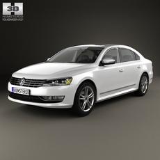 Volkswagen Passat (B7) with HQ interior 2011 3D Model