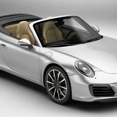 Porsche 911 Carrera Cabriolet 2017 3D Model