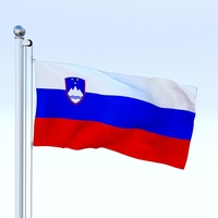 Animated Slovenia Flag 3D Model