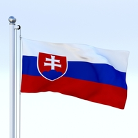 Animated Slovakia Flag 3D Model
