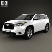 Toyota Highlander with HQ interior 2014 3D Model