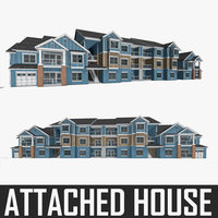 Multi-family Residential Attached House 3D Model