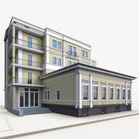 Residential Building 02 3D Model