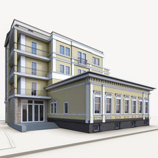 Russian Residential Building 3D Model