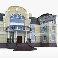 Art Nouveau Mansion 3D Model