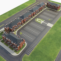 Neighborhood Residential Complex 3D Model