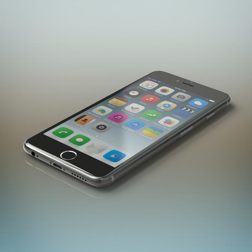 iPhone 6 grey 3D Model