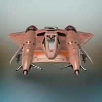 Sci-Fi Fighter plane 3D Model