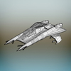 22 20 03 726 space fighter plane wireframe 4