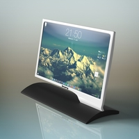 Samsung Led Monitor 3D Model