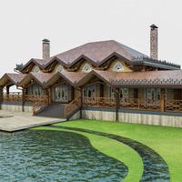 Chalet House 3D Model