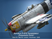 Republic P-47 Thunderbolt - Passionate Patsy 3D Model