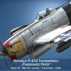 Republic P-47 Thunderbolt - Passionate Patsy 3D Model