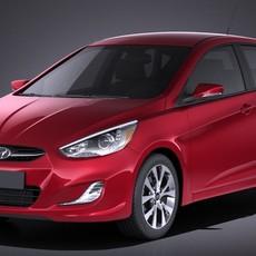 Hyundai Accent Hatchback 5-door 2017 3D Model
