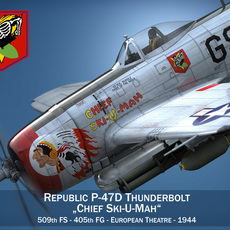 Republic P-47D Thunderbolt - Ski-U-Mah 3D Model