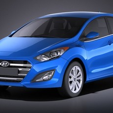 Hyundai Elantra GT 2017 3D Model