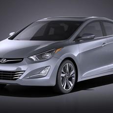 Hyundai Elantra Sedan 2016 3D Model